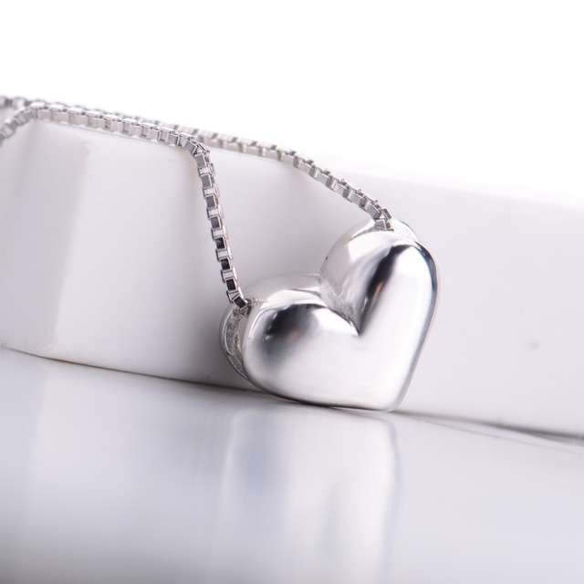 Minimalist Hot Burst models s925 sterling silver Solid color heart romantic jewelry pendant&necklace Christmas present N0114