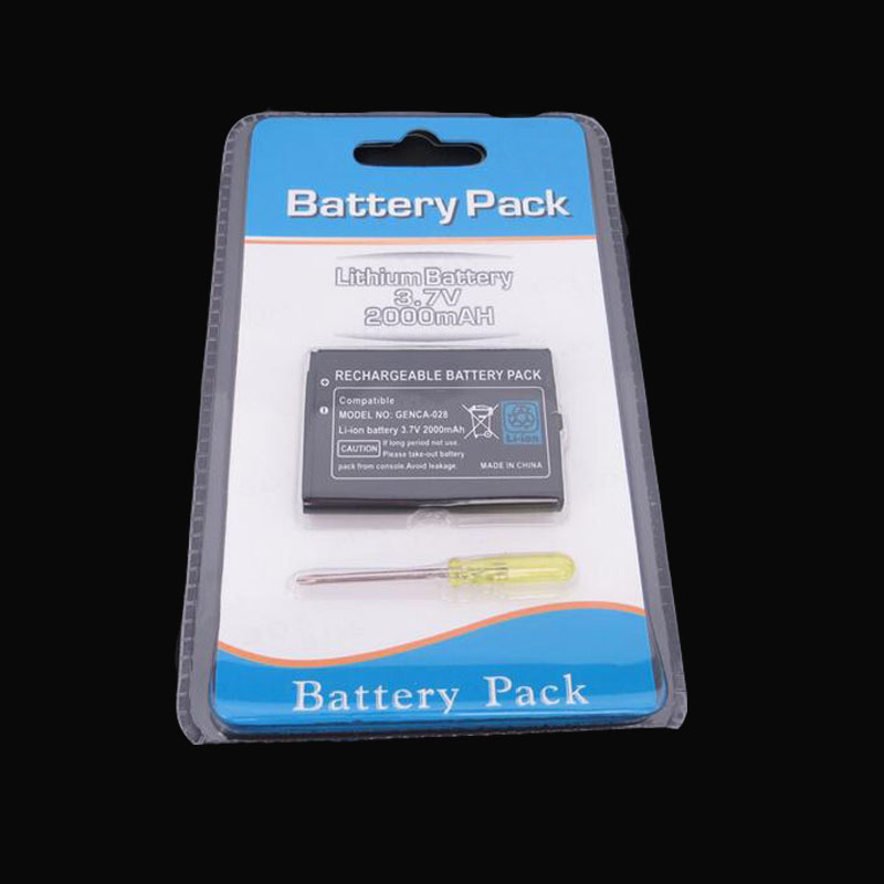 100% Brand New 3.7V <font><b>2000mAh</b></font> Rechargeable <font><b>Battery</b></font> Power Pack Replacement with tool For Nintendo <font><b>3DS</b></font> Game Console image
