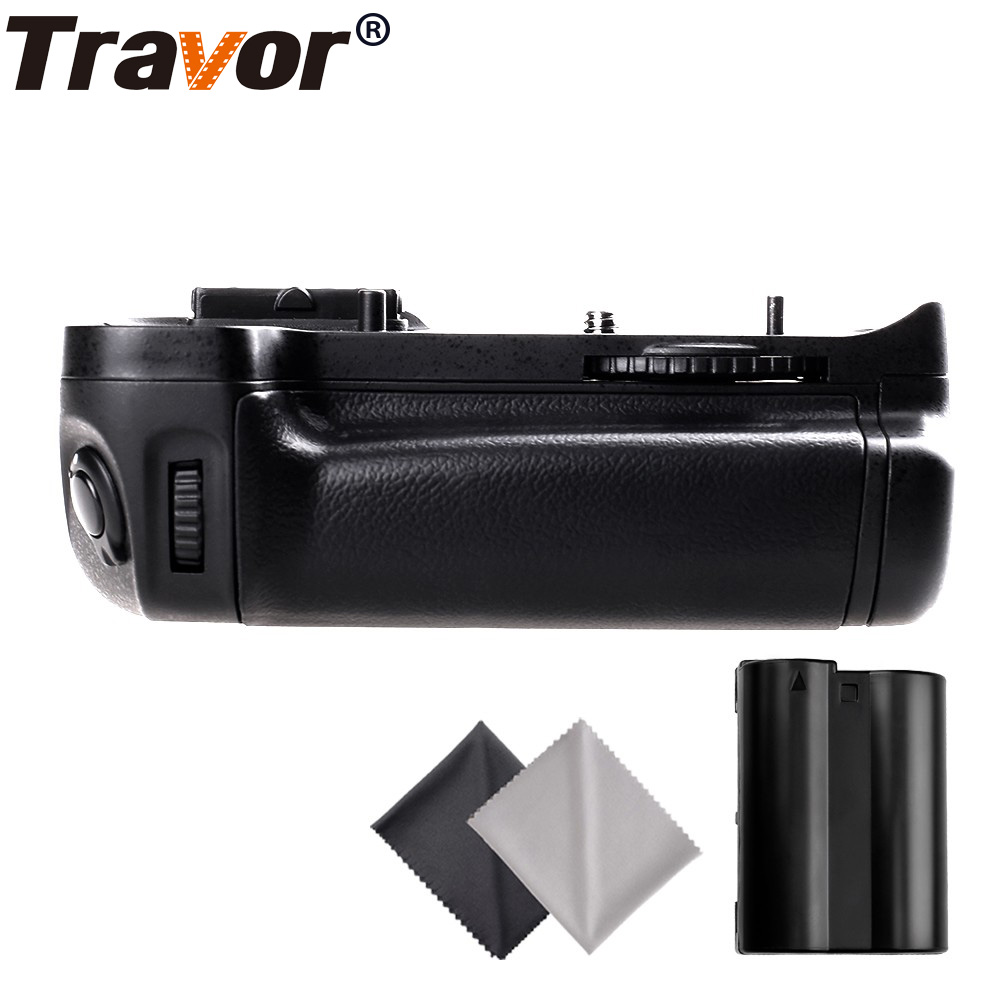 Travor Battery Grip Holder for Nikon D7000 DSLR Camera as MB-D11 +1pc EN-EN15 battery +2pcs Microfiber Cloth nikon mb d11 replacement battery grip for nikon d7000 black