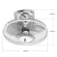 22%,Portable Mini Metal Electric Fan Ceiling Fan 3 Gear Fan Speed Adjustable Copper Motor Hanging Fan with 3 Leaf White 60W