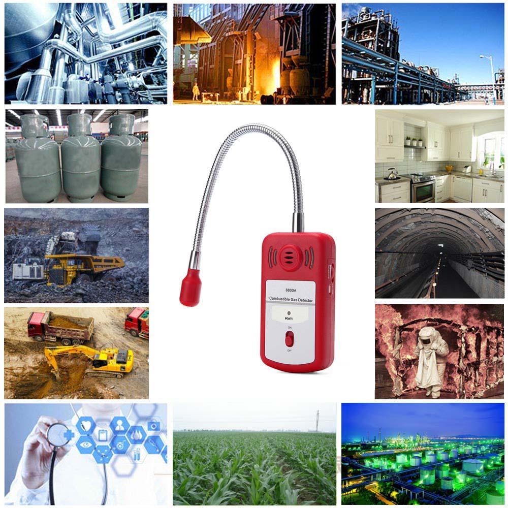 Combustible Gas Detector alarm Gas Analyzer Portable combustible Gas Leak detectors analizador gases Determine Tester