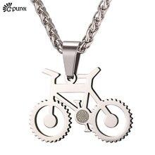 Negro Collares Bicicleta con 55 cm de Acero Inoxidable 316L Collares de Cadena Del Motorista Del Mens Collar P2399G