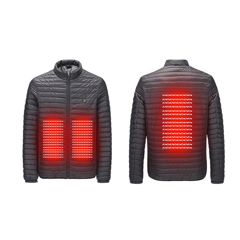 Winter Outdoor Intelligent Heating Jacket Electronic Slim Heating Cotton Clothes USB Front Rear Heating Down For Skiing Mountain