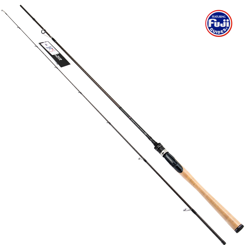 Trulinoya Carbon Spinning Rod Length 1.95M L Bass Fishing Rod Soft worm rods Elite 652LS with whole cork handle
