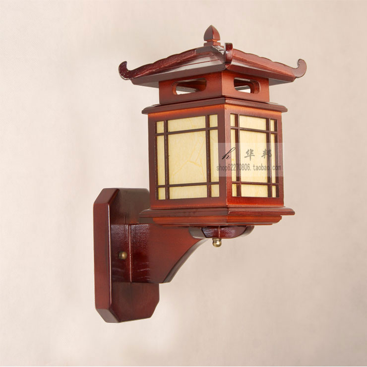 Chinese Classical Style Small House Wall Lamp Stair Aisle Lights Wooden Bedside Antique Wood Led Wall Lamp Lights & Lighting