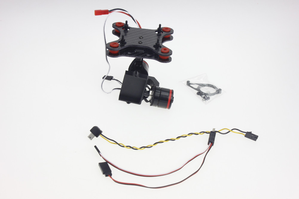 F06684-A Upgrade Brushless Gimbal Camera Mount+for Gopro3 USB TO AV cable+5.8G Real Time FPV AV Transmitter Connecting Cable