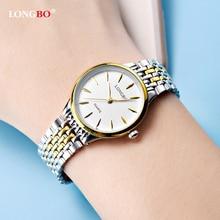ФОТО 2017 mens womens couple watches top longbo brand luxury bracelet watches hodinky men minimalist face design clock watch horloge