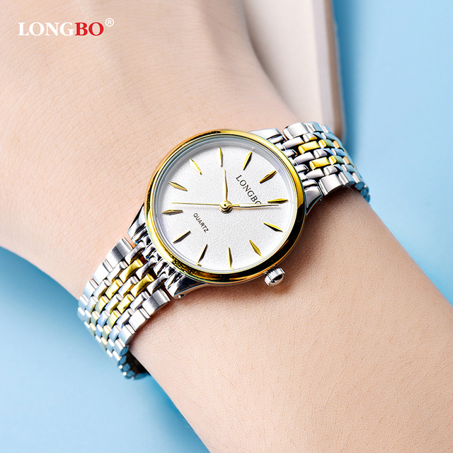 2018 Mens Womens Couple Watches Top Longbo Brand Luxury Bracelet Watches hodinky Men Minimalist Face Design Clock Watch horloge