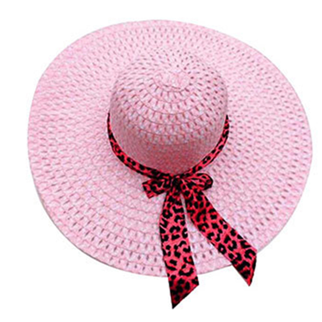 f9015db5f16 Cheap Women Plain Large Floppy Sun Hats Ladies Straw Wide Brim Hat Womens  Summer Beach Caps Lady Big Brimmed Cap with Ribbon
