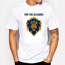 New Arrivals Game Summer Men T Shirts For The Alliance Tribal Printing Fitness Hip Hop Swag Short Sleeve Male T-Shirt