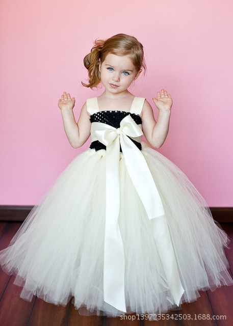 50f30ddb30f5 Cute Baby Girls Crochet Long Floor Tutu Dress Kids Solid Color ...