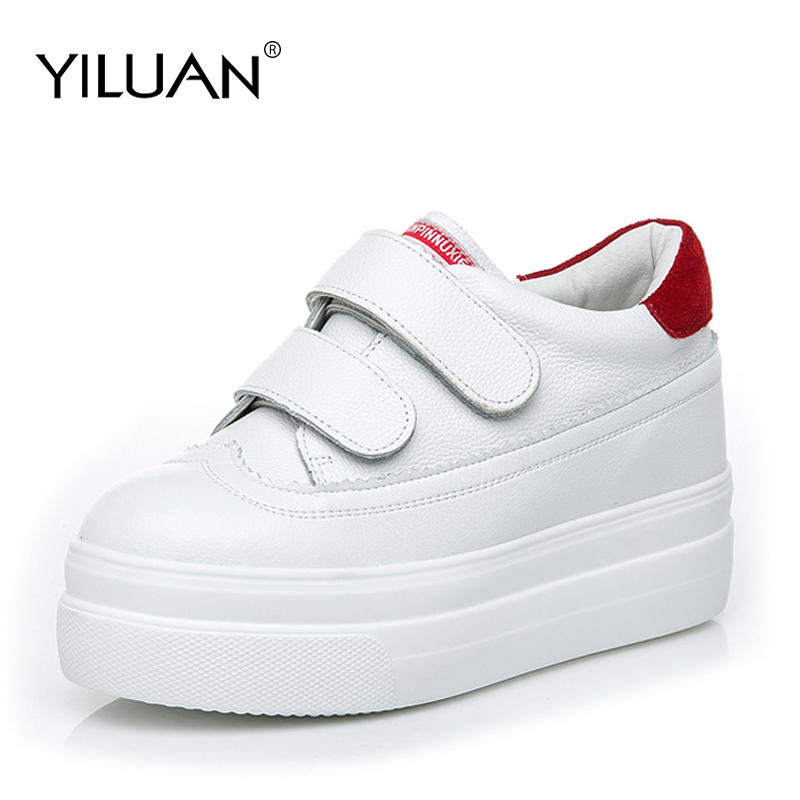 2019 New Thick soled white shoes new spring summer wild Korean version breathable increase Sneakers women