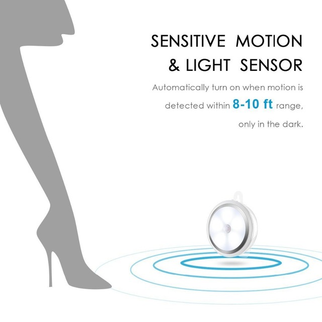 Smart Home Products 10 LED sensor night light Infrared body light control lamp corridor aisle lights creative cabinet