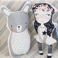 Ins Hot Creative Unicorn Little Girl Bear Fox Rabbit Rainbow Cloud Pillow Cushion Unicorn Baby Sleep