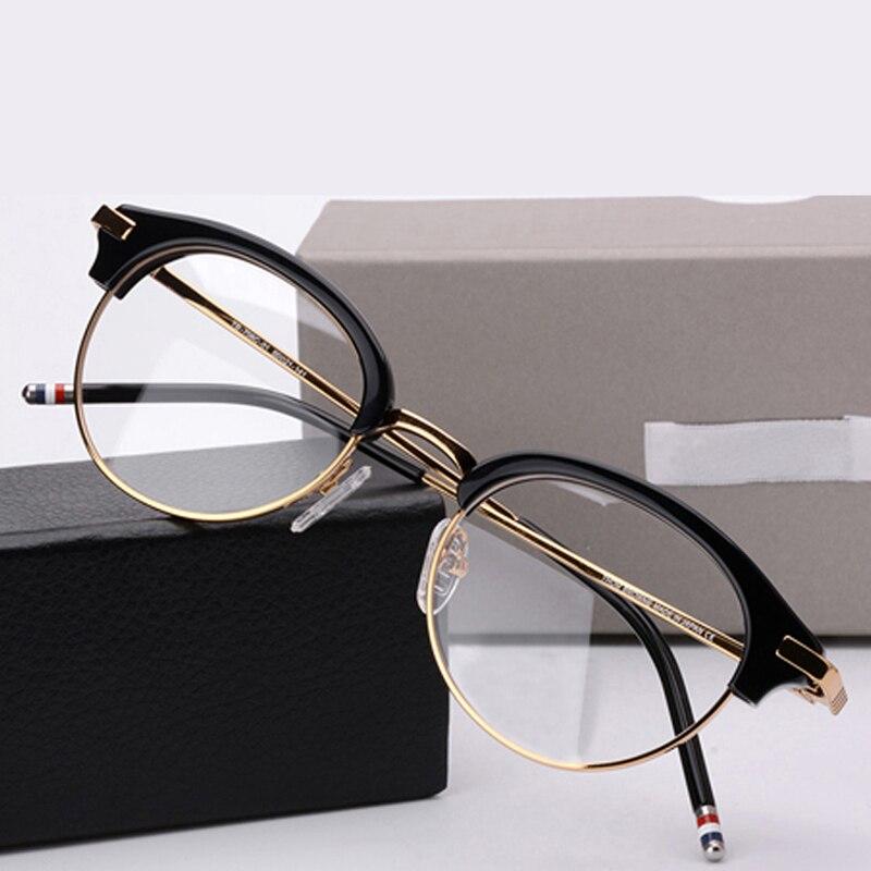 Thom Brand Optical Prescription Glasses Frame Men Retro Round Acetate Eyeglasses Women Spectacles oculos de grau