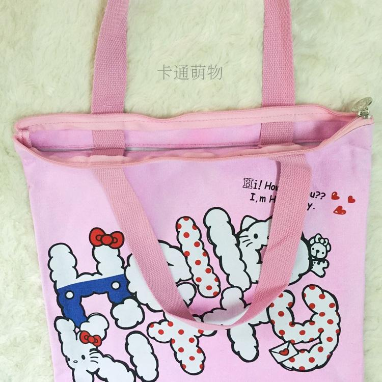Kawaii Hello Kitty Bag Cats Canvas Shopping Bag Handbags Beach Foldable  Folding Grocery Bags kitty Large Eco Cartoon Tote Bags-in Shopping Bags  from Luggage ... b789656993