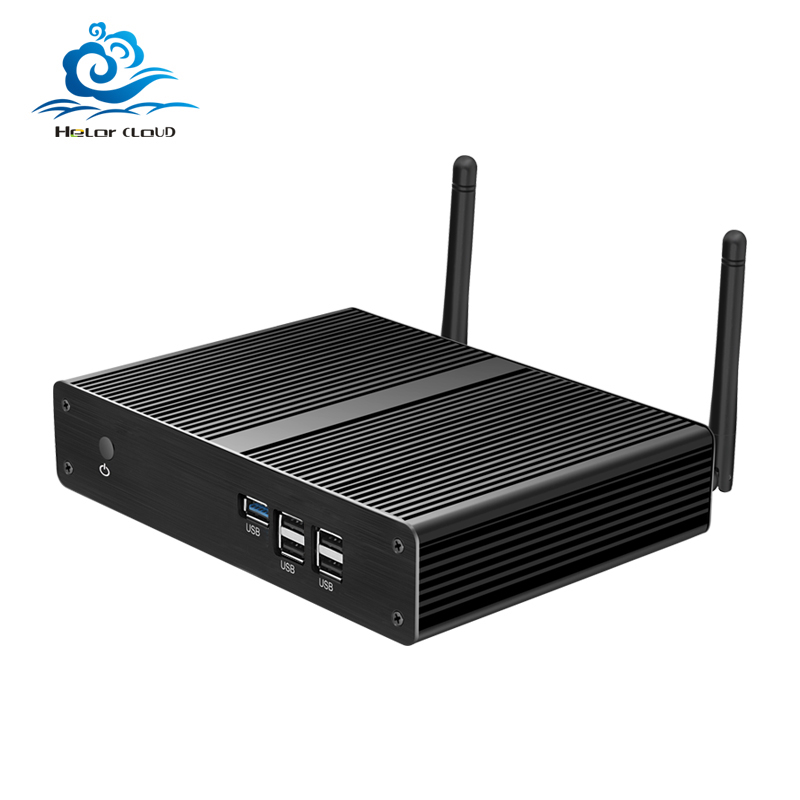 Fanless Mini PC Intel Celeron N2810 J1800 J1900 N2930 Windows 7 Mini Computer Nettop Desktop WIFI HDMI VGA USB HTPC