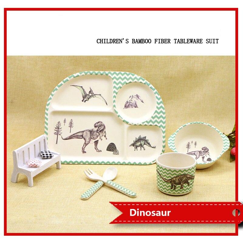5 pièces/ensemble bambou fibre bébé vaisselle vaisselle vaisselle ensemble bébé alimentation ensemble vaisselle pour enfants