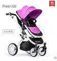 Inflar ruedas de 0 ~ 36 meses el uso del bebé freekids bebé cochecito de bebé luz del coche plegable suspensión cochecito de bebé niño 4 colores