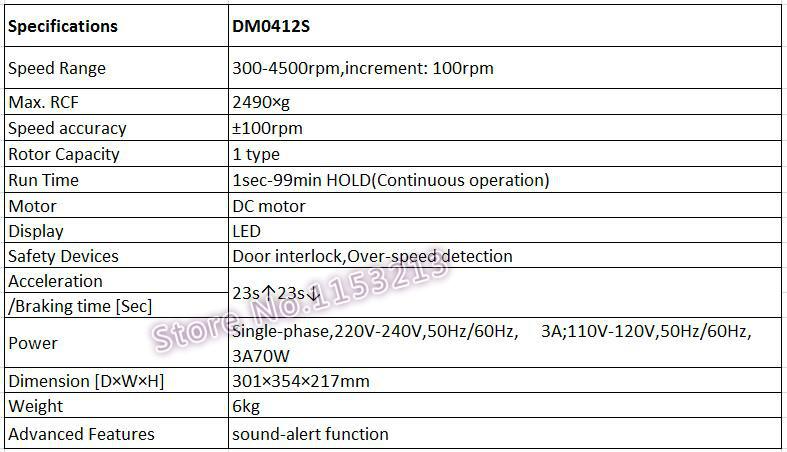 Dragon lab DM0412S Economic type Clinical Centrifuge 15ml*8, or  10ml/7ml/5ml*12, Dlab Slow Speed Centrifuge 300-4500rpm DC motor