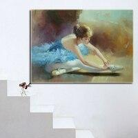 Duvar sanatı çerçevesiz boyama dans insanlar yağlıboya modern soyut resim sergisi tuval basit soyut resim sergisi