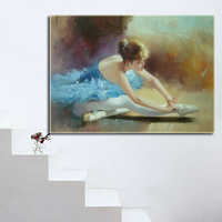 Wall art frameless painting dancing people oil painting modern abstract paintings canvas simple abstract paintings