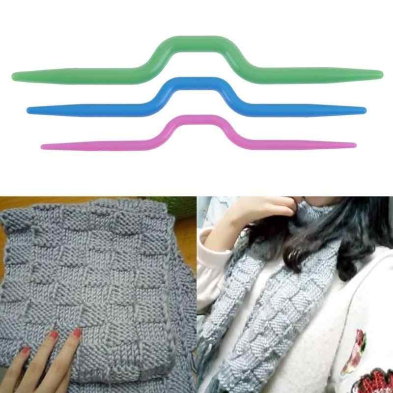 3pc Gebogen Sjaal Trui Breien Twist Naalden Haak Haak Weven Tool Naaien Accessoires Gebogen Naald Craft DIY Naaien Tool