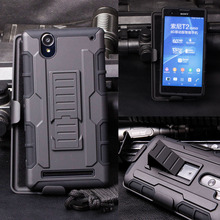 For Sony Xperia T2 Ultra Dual Case,  Impact Holster Hard Case For Sony Xperia T2 Ultra Dual D5322 XM50h D5303 D5306 Cover