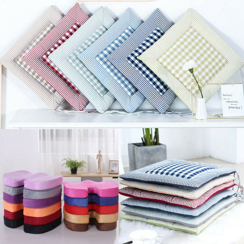 Chair Cushion Seat-Pads Dining-Room Garden Office Kitchen Soft 19-Colors Thicker