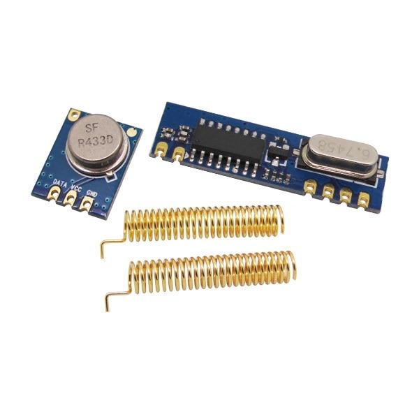 bilder für Drahtlose FRAGEN Modul kit (RF sender STX882 + RF empfänger SRX887) + 2 stücke gold frühjahr antenne