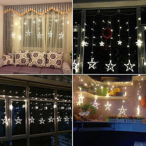 4 m star curtain star led string light waterproof christmas fairy light romantic