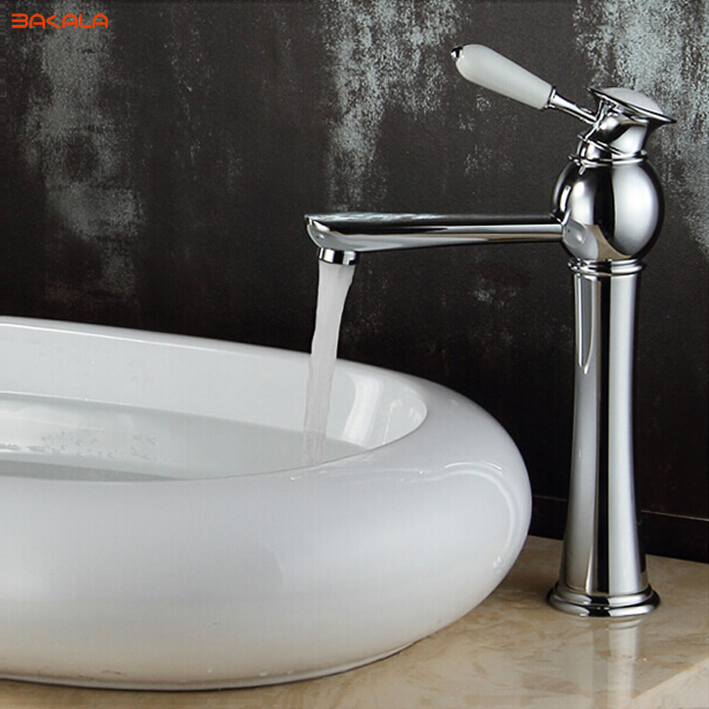 BAKALA Luxury washbasin Basin on the table face basin faucet Brass ...