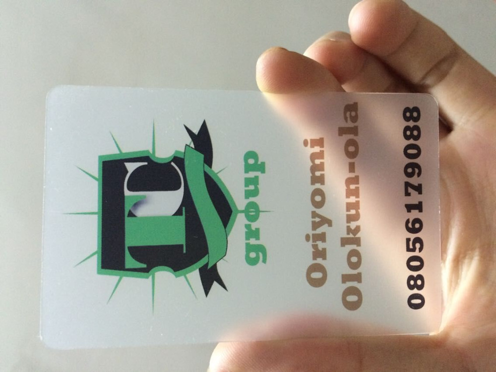 custom transparent PVC plastic name visit business cards printing ...