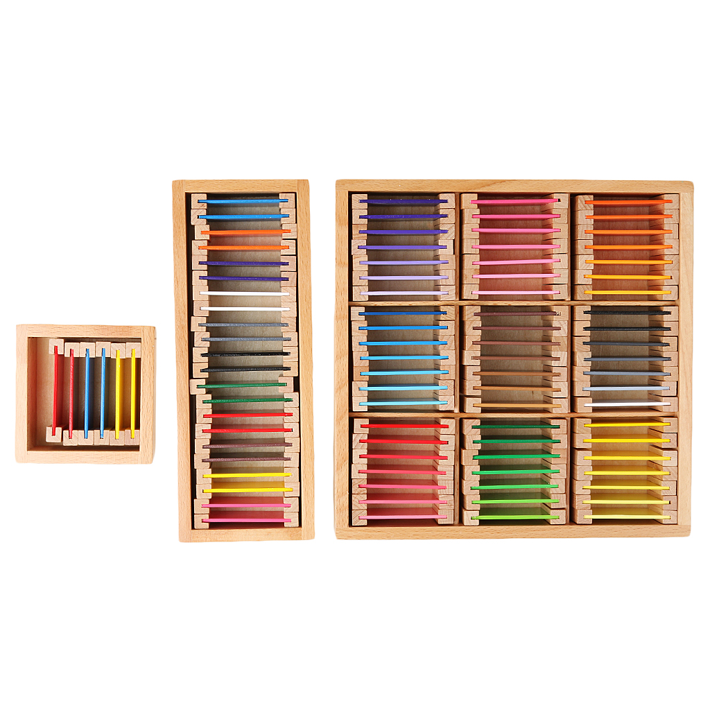 Wooden Montessori Sensorial Material Learning Color Boxes Preschool Learning Educational Toy for Children Gift Classic Math Toy