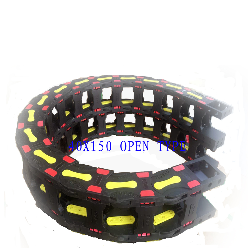 Free Shipping 40x150 1 Meters Bridge Type Plastic Cable Carrier With End Connectors