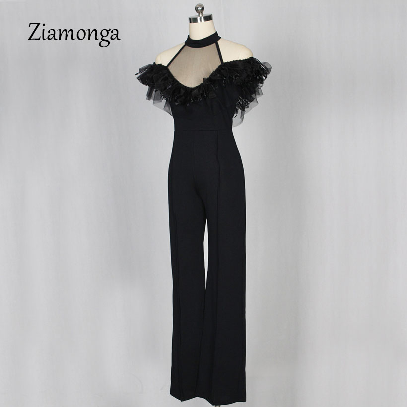 06fdf94ee765 Ziamonga 2018 New Women Jumpsuit Off Shoulder Elegant Jumpsuits Women Plus  Size Rompers Womens Jumpsuit Ruffles Female Overalls-in Jumpsuits from  Women s ...