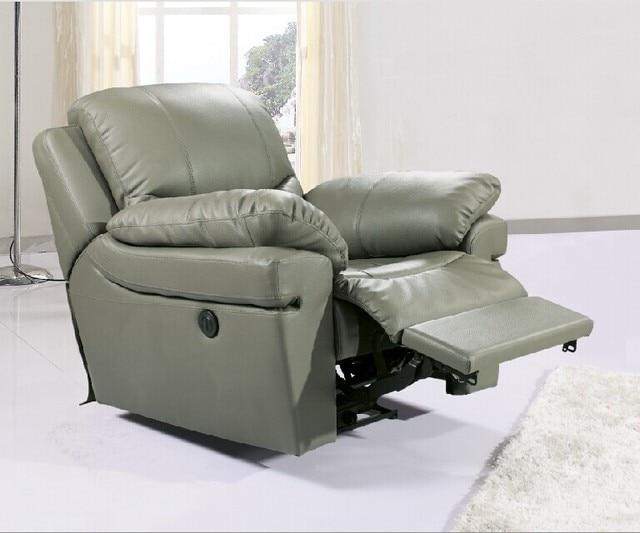 Antique Europäischen Concise Kreative Echtem Leder Stuhl Einzel Wohnzimmer  Sofa Stühle Drehstuhl Funktionale Plastikstuhl Liege