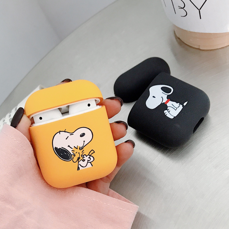 NEW Cartoon Earphone Case For Apple Airpods 1/2 Shockproof Cover For Apple AirPods Earphone Cases Matte Protector Couple Case