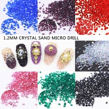 1.2mm/1440pcs Micro Zircon Glitter Nail Art Pixie Crystal Non Hotfix Rhinestone Mini Pixie Rhinestones Art Decoration Applique 2018 new all sizes 1440pcs crystal chaton nail art pixie rhinestone micro pixie manicure decoration tiny mini pixie rhinestones