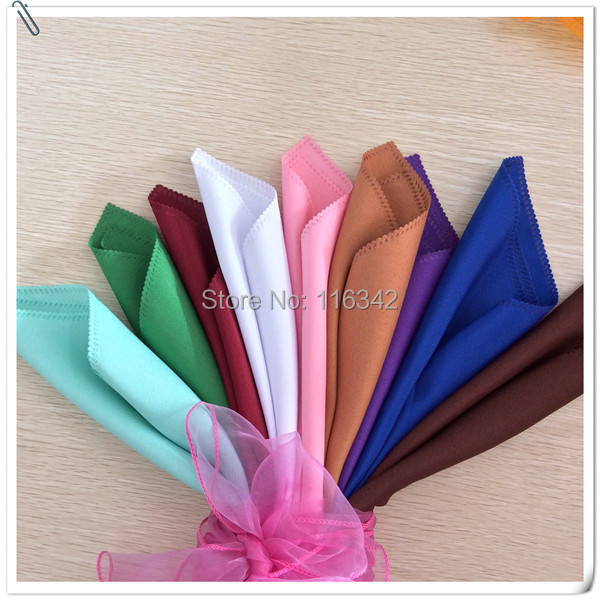 Factory Price !! Factory Price !!! 100pcs 50cm*50cm Wedding Napkins & Polyester Table Napkins Free Shipping