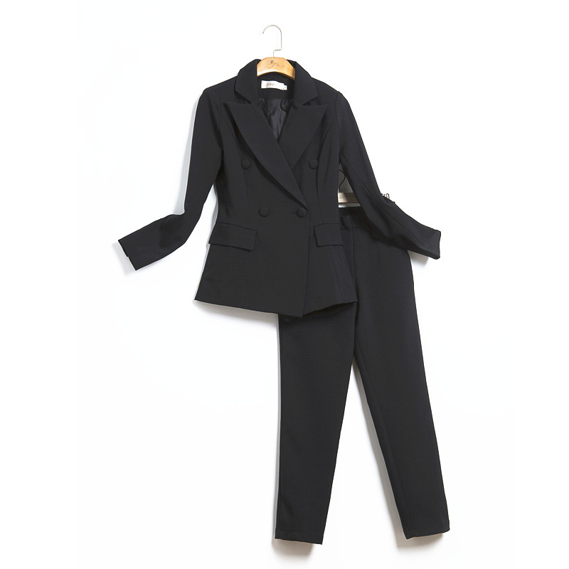Womens Business Suits Female Office Uniform Ladies Trouser Suits Formal Womens Tuxedo 2 Piece Set Blazer