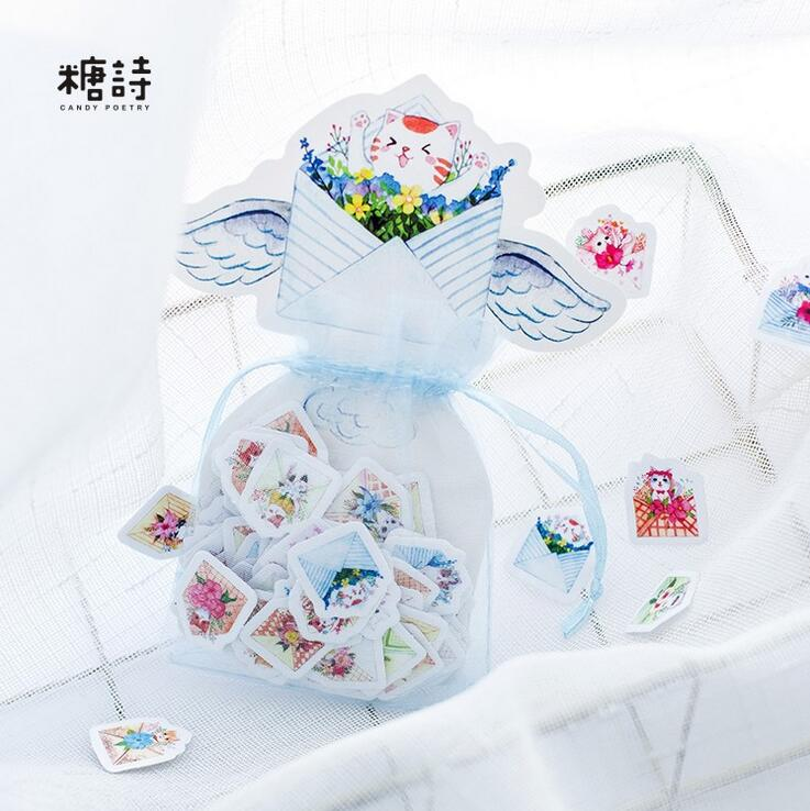 100 pcs/pack Keep Mewo Garden Organza Bag Decorative Stickers Adhesive Stickers DIY Decoration Craft Scrapbooking Stickers alive for all the things are nice stickers adhesive stickers diy decoration stickers