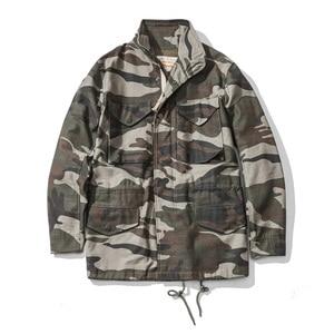 Image 4 - A. c. e. Exército dos eua 1966 m65 replica campo trench coat camuflagem jaqueta militar inverno longo outwear