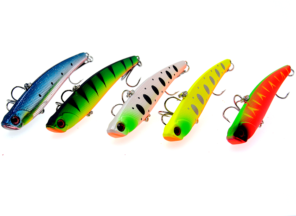 Image 2 - Sinking Vibration Fishing Lure 26g 95mm Hard Plastic Artificial VIB Winter Ice Fishing Pike Bait Tackle Isca Peche-in Fishing Lures from Sports & Entertainment
