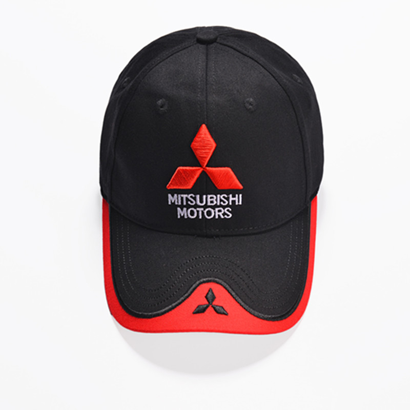 NEW   Baseball     Cap   Men Embroidery Mitsubishi Car   Cap   Dad Hat Women Adjustable Casual Bones Hat Black White Snapback   Cap