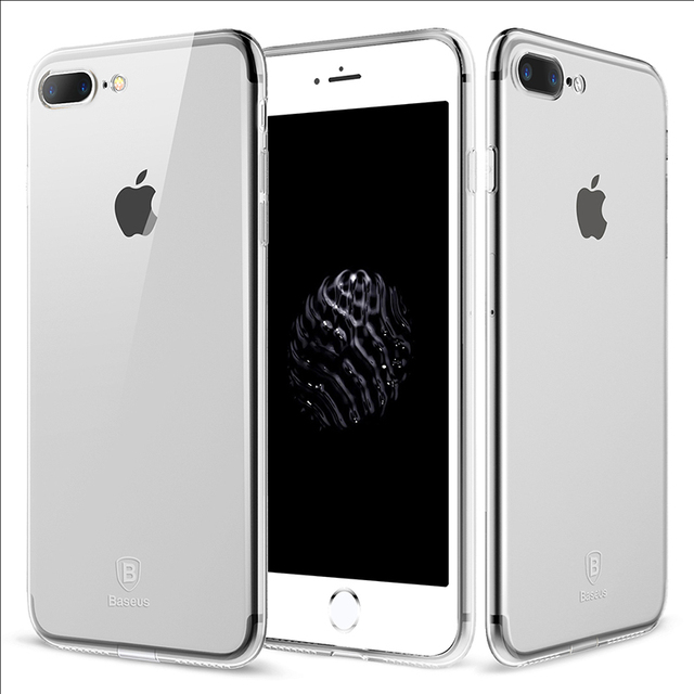 Clear Case: Black or Full Transparent Silicone Case for iPhone 7 7 Plus 8 8 Plus (TPU iPhone Case) by Baseus 2