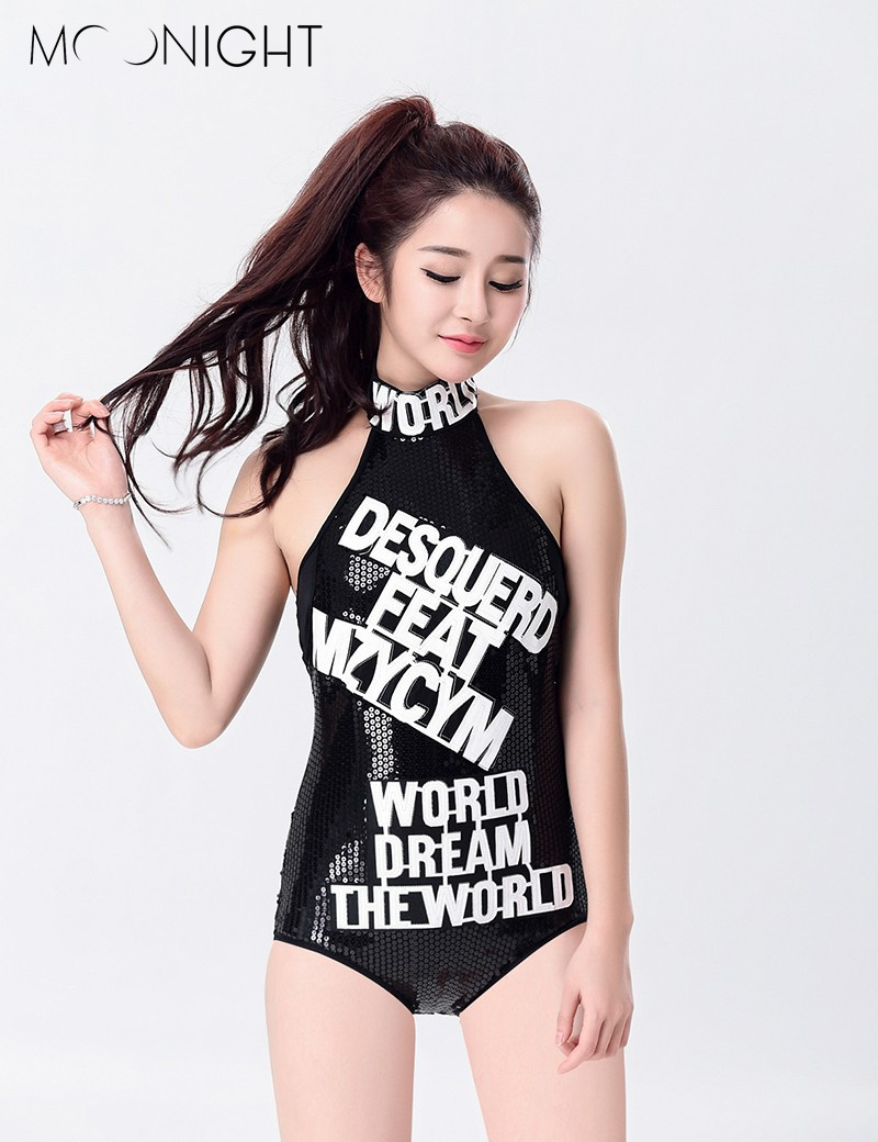MOONIGHT sexy female singer students costume jumpsuit dance wear bar dj clothes stage costume women dancers singer stage show