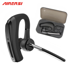 Nieuwste V8 Draadloze Handsfree Bluetooth Headset Oortelefoon V4.1 slimme auto oproep zakelijke Bluetooth Koptelefoon met Opbergdoos
