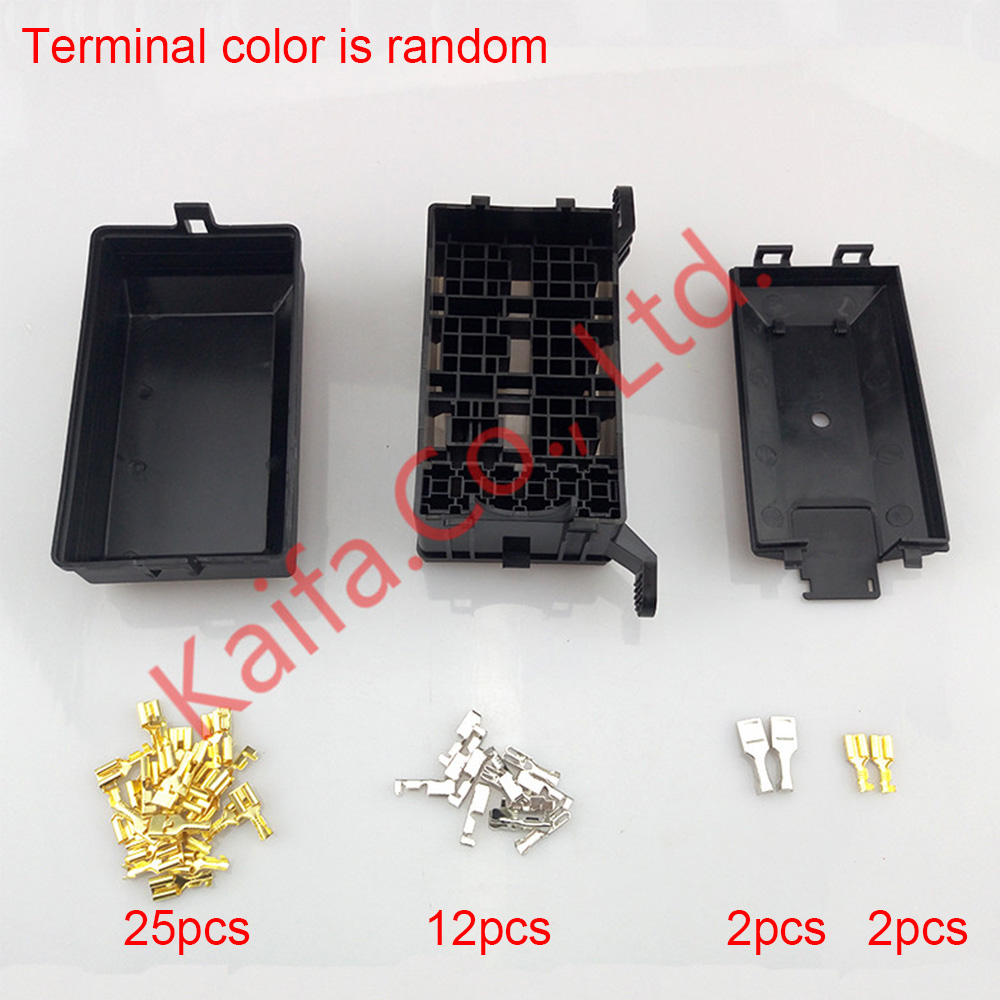 hight resolution of new type 12 slot relay box 6 relays fuses holder block with 41pcs pins easy