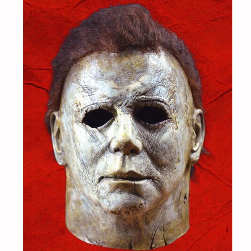 2018 caliente película de Horror de Halloween Michael Myers máscara Cosplay adulto de cara completa casco fiesta de Halloween de miedo accesorios de juguete